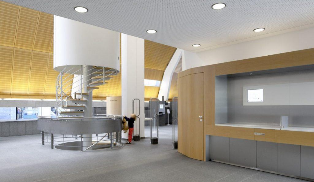 Münster, Stadtbücherei, nach den Modernisierungsarbeiten von 2010 (Bild: © Julia Holtkoetter)