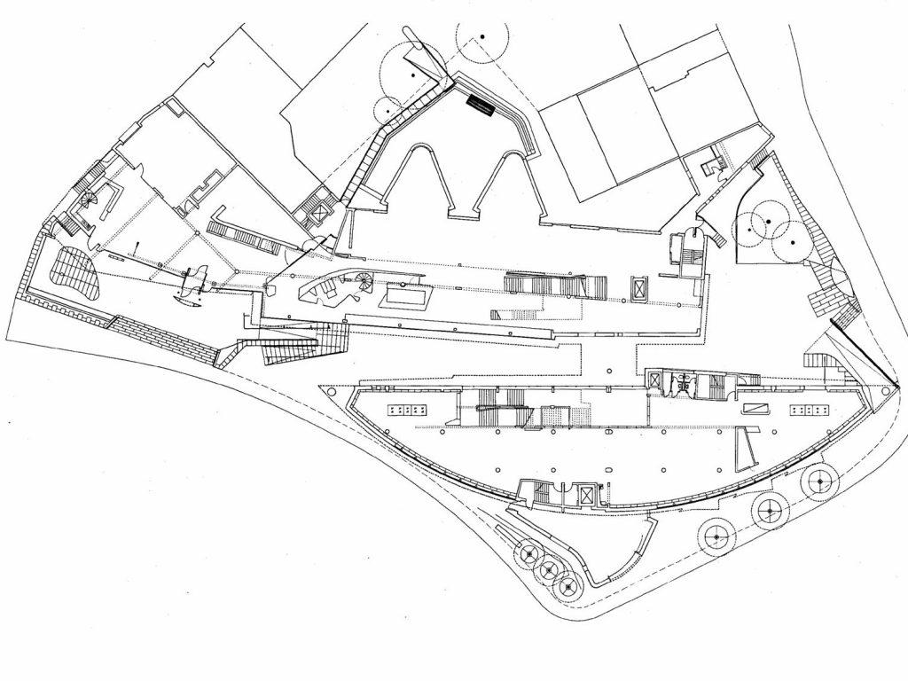 Münster, Stadtbücherei, Grundriss (Bild: Bolles + Wilson, Münster in Westfalen)