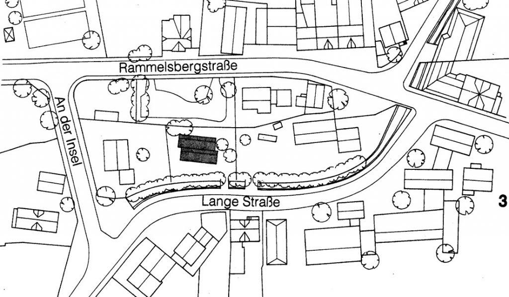 """Kassel, Bürogebäude der """"Baufrösche"""", Lageplan (Bild: Büro Baufrösche)"""