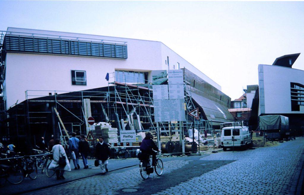 Münster, Stadtbücherei während der Bauarbeiten, Frühjahr 1993 Jahre (Bild: Stefan Rethfeld)