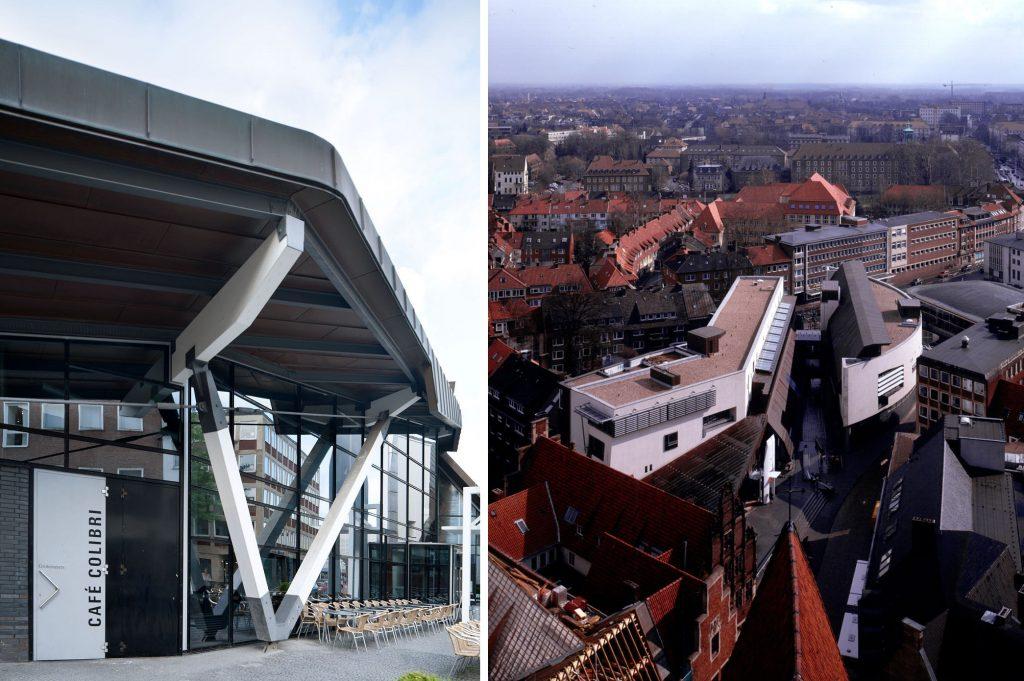 Münster, Stadtbücherei (Bilder: links: ©Julia Holtkoetter, rechts: © Christian Richters)