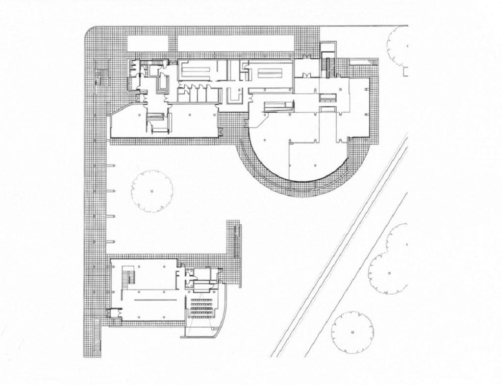 Schwendi, Weishaupt-Forum (Bild: Grundriss, Richard Meier)