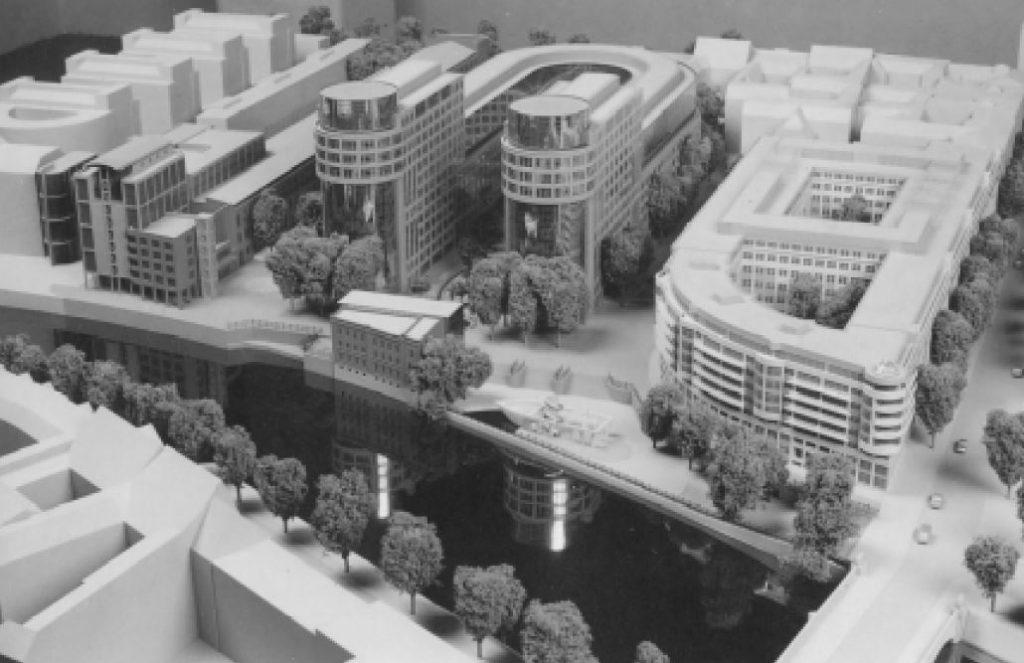 Berlin, Spree-Bogen (Bild: Modellfoto aus: Engel, H./Koop, V., Der Spree-Bogen, Berlin 1995)