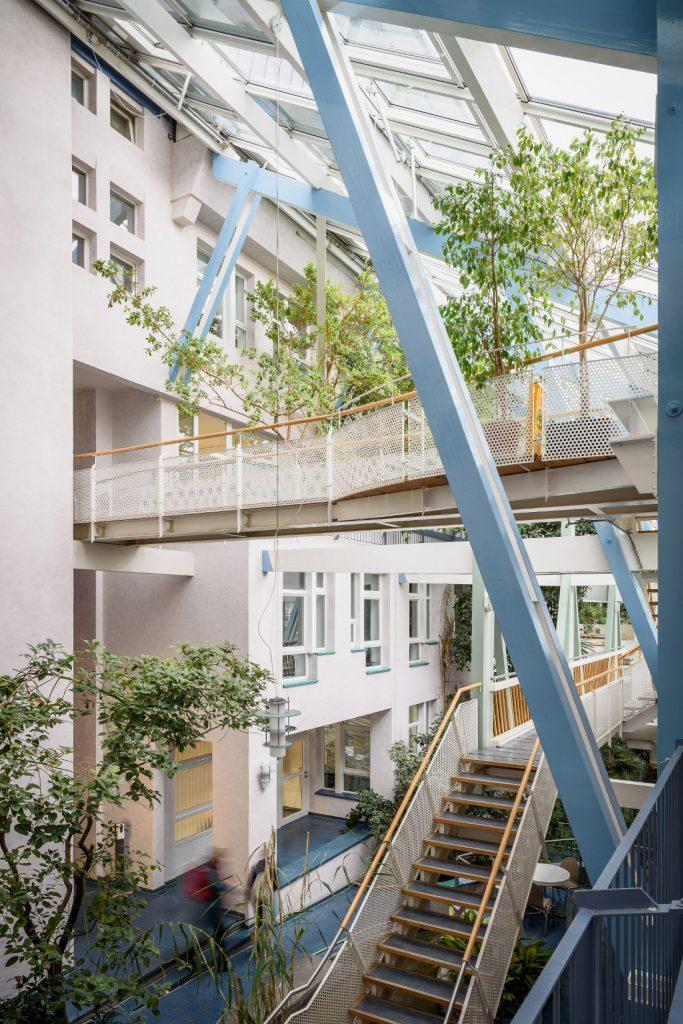 Frankfurt, Ökohaus Arche (Bild: Moritz Bernoully, 2020)