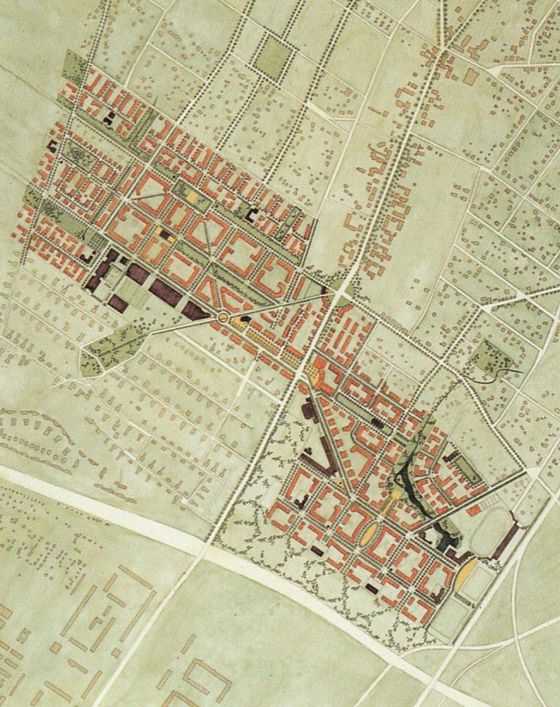 Berlin, Karow Nord, Masterplan (Bild: Wohnungsbau der 90er Jahre in Berlin, Katalog, Berlin 1995, S. 292)