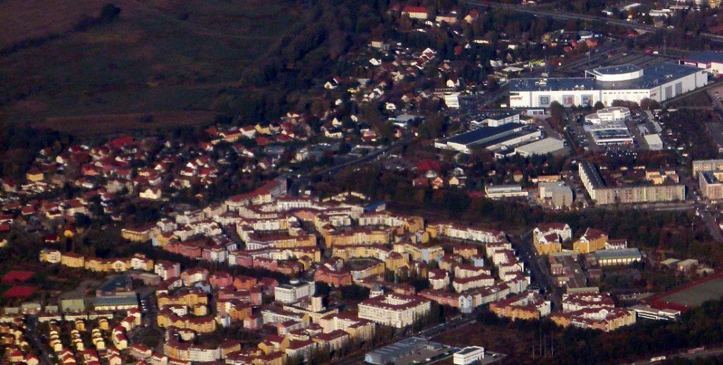 Kirchsteigfeld, Luftbild (Bild: Bruecke-Osteuropa, CC0 1.0, 2012)